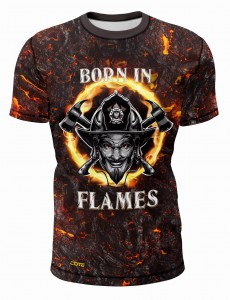 T-SHIRT BORN IN FLAMES